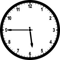 ساعت پتج و چهل و پنج دقیقه