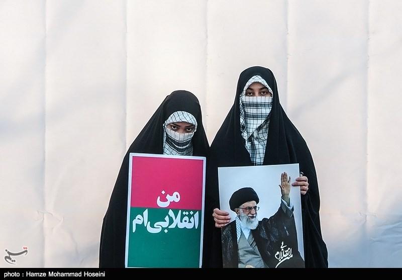 شرکت کنندگان در راهپیمایی یوم الله 22 بهمن