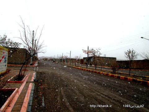بارش برف در دومین روز بهار1393 در خانیک