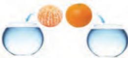 اگر پرتقالی را درون ظرف محتوی آب بیندازیم پیش بینی کنید چه اتفاقی میافتد