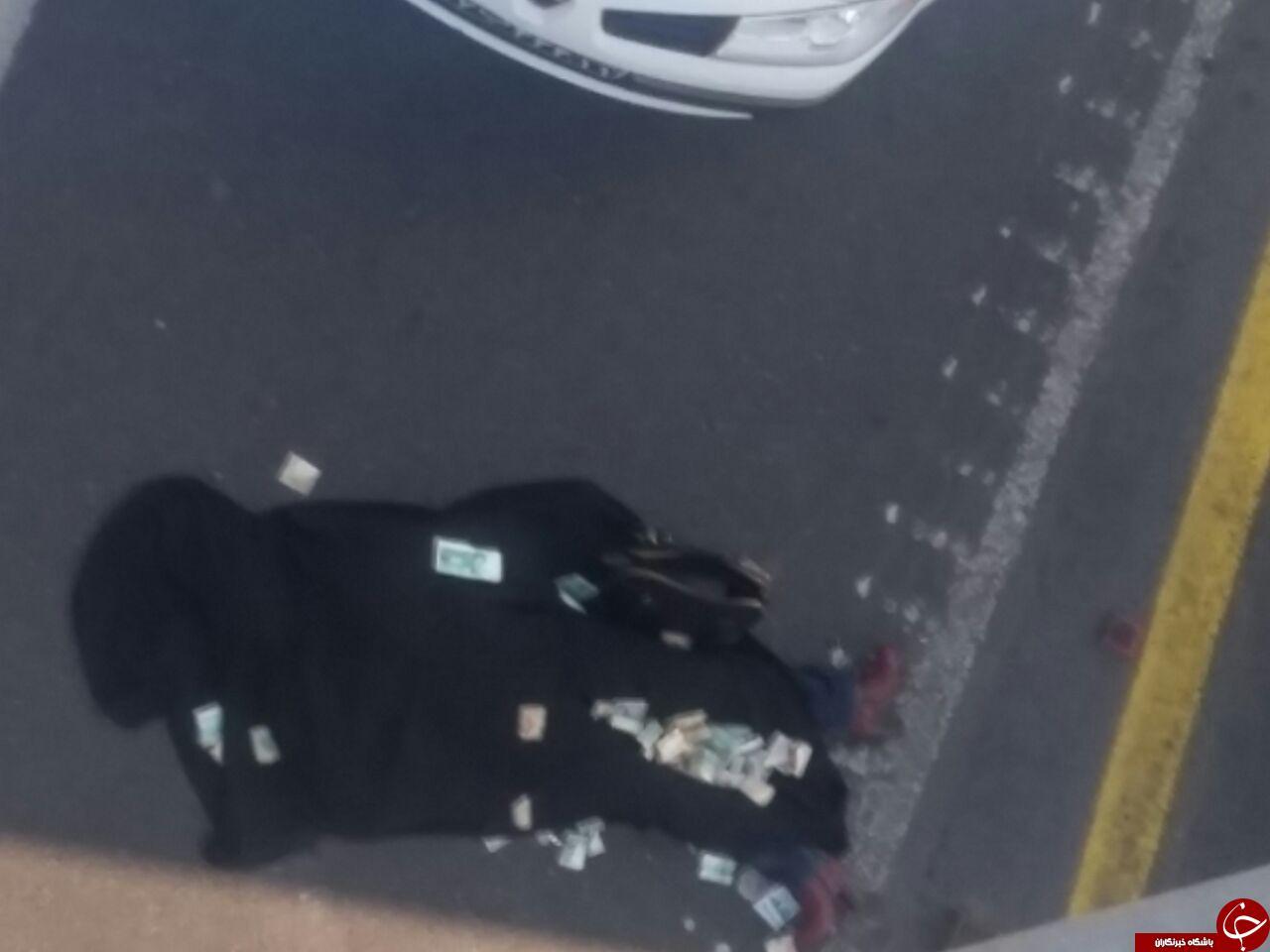 تصاویر خودکشی دختر از بالای پل رسالت