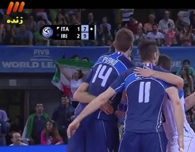 حاشیه بازی والیبال ایران و ایتالیا