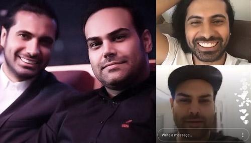 لایو دونفره امین قباد و سیامک عباسی + اجرای زنده عشق