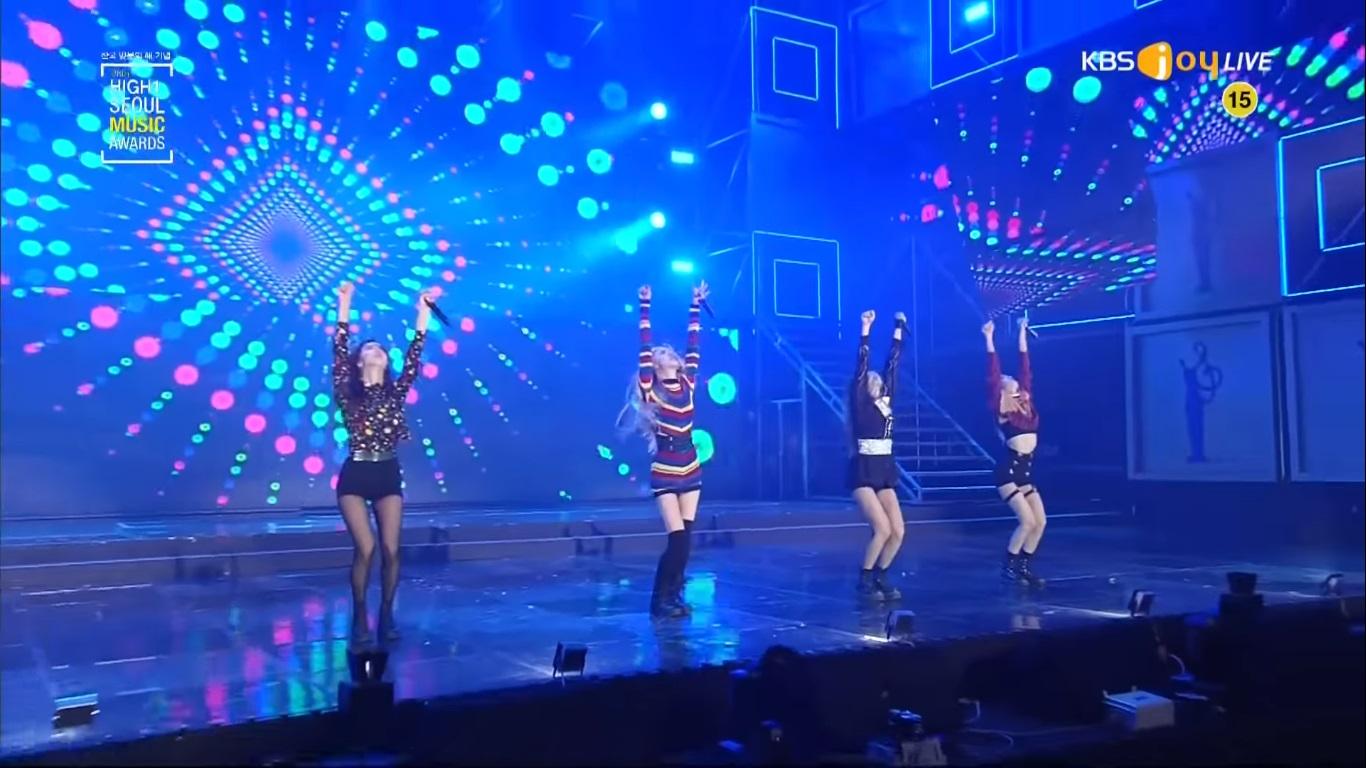 کنسرت بلک پینک در Seoul Music Awards سال 2017