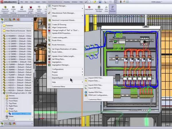 طراحی تابلو برق و کلید ها با سالیدورک