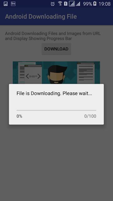 دانلود عکس یا فایل در اندروید